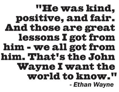 Ethan Wayne Quote