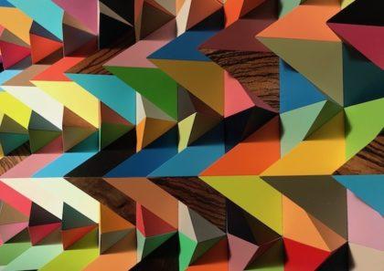 Colorful art installation at Art Market San Francisco