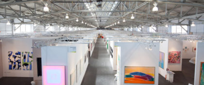 Areal view of Art Market San Francisco, without visitors